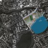Vue aérienne site Hackney